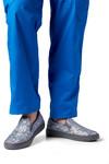 Avery Blue Metallic On Foot